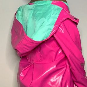 SOLD-Pink Rain Jacket